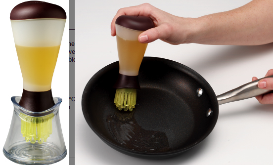 Aplicador de aceite de olvida en sartén