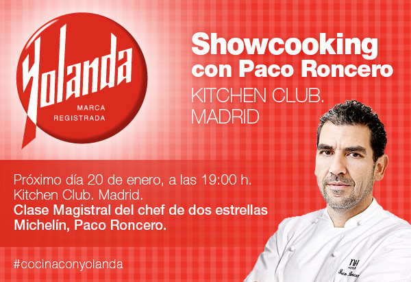 Paco roncero Show Cooking