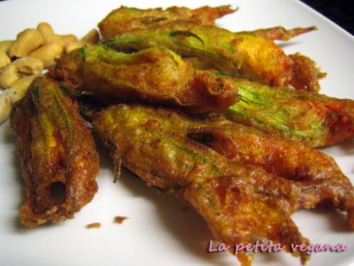 tempura de flores de calabacín