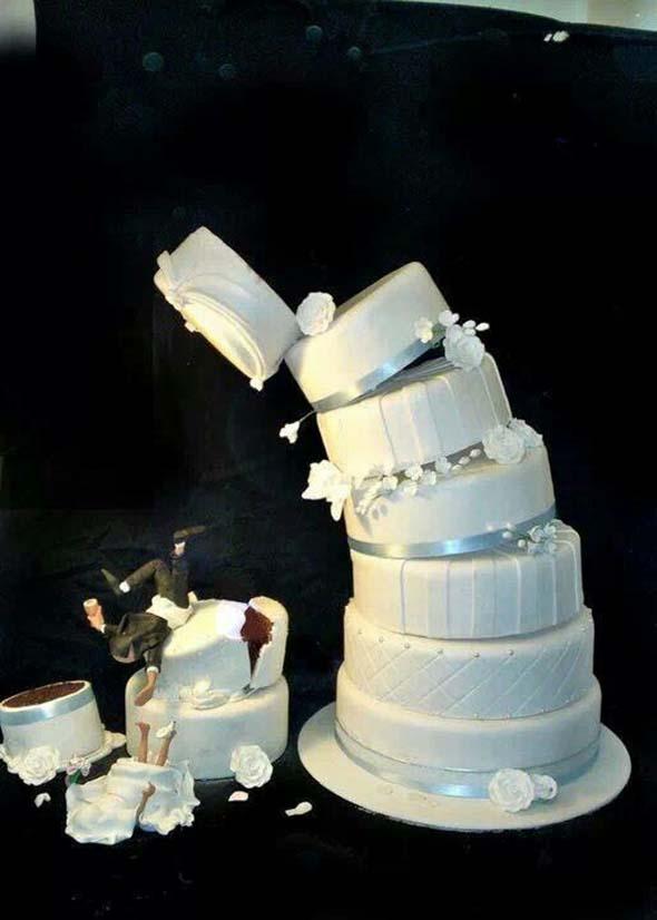 pastel de boda divertido