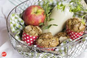 Muffin de manzana sin huevo
