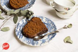 Pastel de chocolate y calabaza