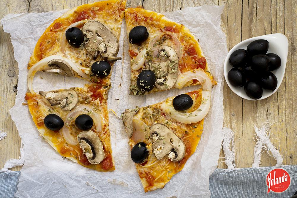 Pizza de verduras con Harina Yolanda