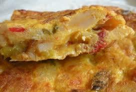 Tortilla de patata y pimiento