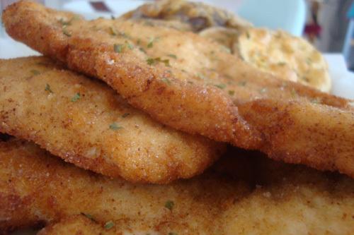 Pechugas de pollos empanadas