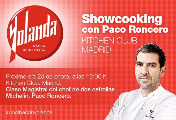Paco Roncero #CocinaConYolanda. Showcooking