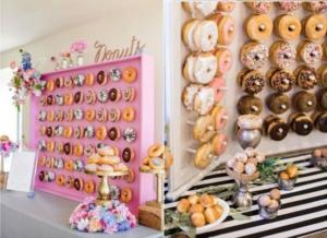Mesa dulce con donut