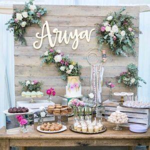 mesa dulce con galletas