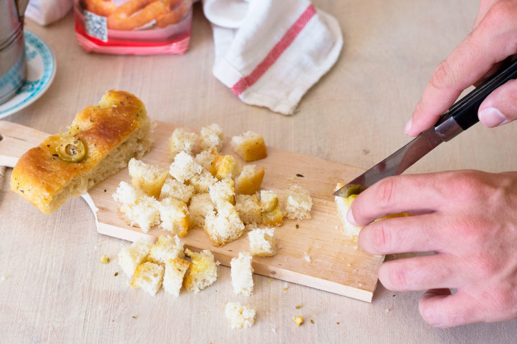 Picatostes para gazpacho