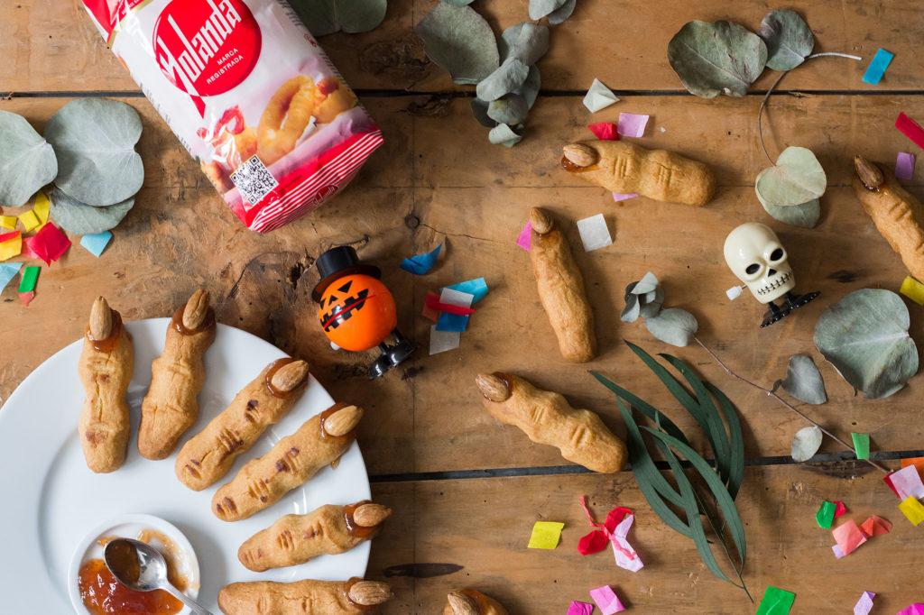 Receta de Halloween de dedos de bruja