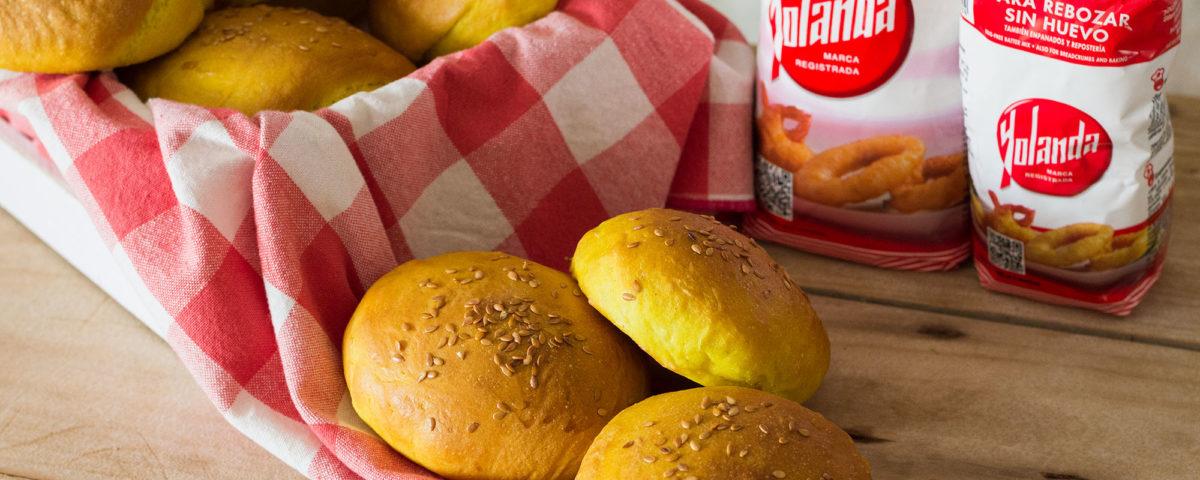 Pan de hamburguesa #sinhuevo con Harina Yolanda