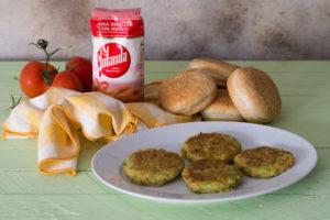 hamburguesa vegetal sin huevo