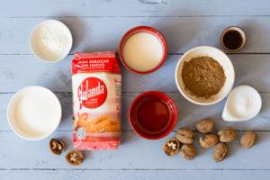 Muffins de algarroba y frutos seco sin huevo