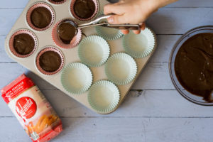 Muffins de algarroba sin huevo