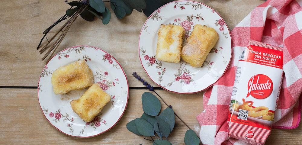 leche frita sin huevo con harina yolanda