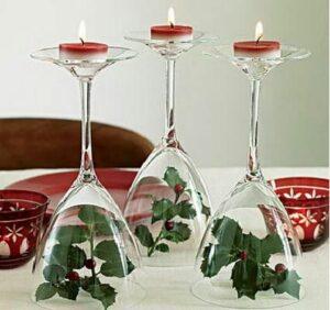 Centro mesa con copas