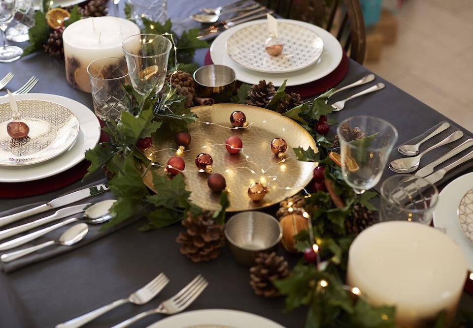Centro de mesa comida navidad